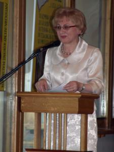 """2009.04.17 — dr Elżbieta Orzechowska — """"Godów. Dzieje radomskiej dzielnicy"""" (fot. Rafał C.)"""