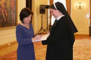 2010.02.26 — Spotkanie z Panią Prezydentową Marią Kaczyńską (fot.: www.prezydent.pl)